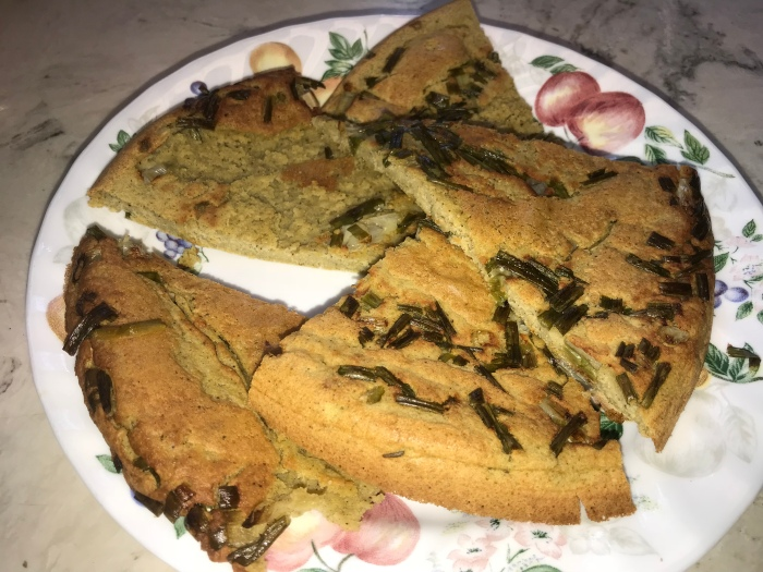 Farinata With Sage and Onions